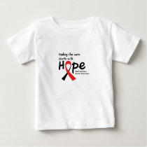 Head and Neck Cancer Awareness Ribbon Butterfly Baby T-Shirt