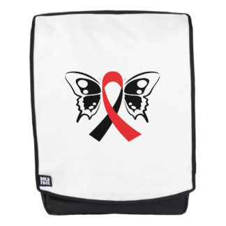 Head and Neck Cancer Awareness Ribbon Butterfly Backpack