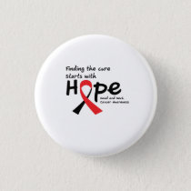 Head and Neck Cancer Awareness Ribbon Butterfly Button