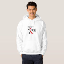 Head and Neck Cancer Awareness Ribbon Butterfly Hoodie
