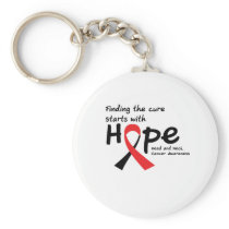 Head and Neck Cancer Awareness Ribbon Butterfly Keychain