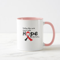 Head and Neck Cancer Awareness Ribbon Butterfly Mug