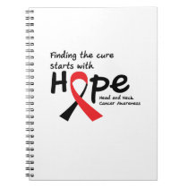 Head and Neck Cancer Awareness Ribbon Butterfly Notebook
