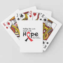 Head and Neck Cancer Awareness Ribbon Butterfly Playing Cards
