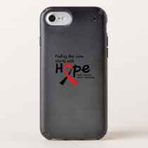 Head and Neck Cancer Awareness Ribbon Butterfly Speck iPhone Case