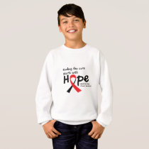 Head and Neck Cancer Awareness Ribbon Butterfly Sweatshirt