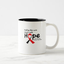 Head and Neck Cancer Awareness Ribbon Butterfly Two-Tone Coffee Mug