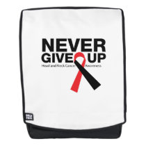 Head and Neck Cancer Awareness Ribbon Fighting Backpack