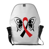 Head and Neck Cancer Awareness Ribbon Fighting Courier Bag