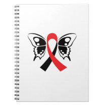 Head and Neck Cancer Awareness Ribbon Fighting Notebook