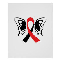 Head and Neck Cancer Awareness Ribbon Fighting Poster