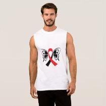 Head and Neck Cancer Awareness Ribbon Fighting Sleeveless Shirt