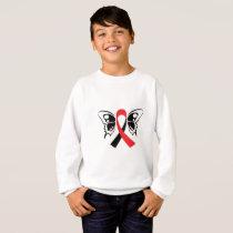 Head and Neck Cancer Awareness Ribbon Fighting Sweatshirt