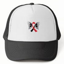 Head and Neck Cancer Awareness Ribbon Fighting Trucker Hat