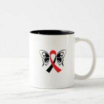 Head and Neck Cancer Awareness Ribbon Fighting Two-Tone Coffee Mug
