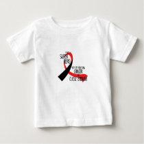 Head and Neck Cancer Awareness Ribbon Hopes Baby T-Shirt
