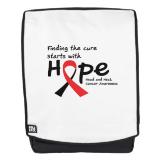 Head and Neck Cancer Awareness Ribbon Hopes Backpack