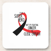 Head and Neck Cancer Awareness Ribbon Hopes Beverage Coaster