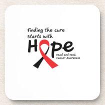 Head and Neck Cancer Awareness Ribbon Hopes Coaster