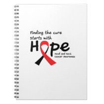 Head and Neck Cancer Awareness Ribbon Hopes Notebook