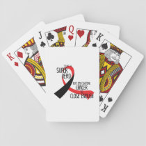 Head and Neck Cancer Awareness Ribbon Hopes Playing Cards