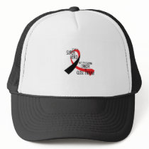 Head and Neck Cancer Awareness Ribbon Hopes Trucker Hat