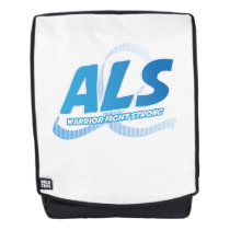 Head and Neck Cancer Awareness Ribbon Support Backpack