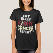 Head and Neck Cancer Awareness T-shirt Burgundy