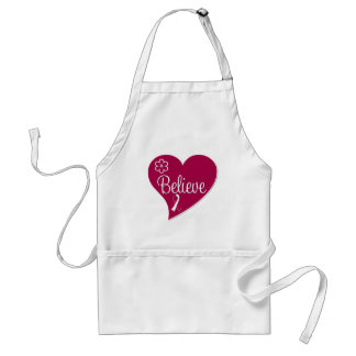 Head and Neck Cancer Believe Heart Adult Apron