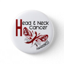 Head and Neck Cancer BUTTERFLY 3.1 Pinback Button