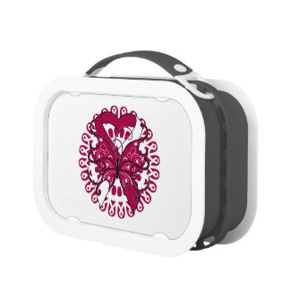 Head and Neck Cancer Butterfly Heart Ribbon Yubo Lunchbox