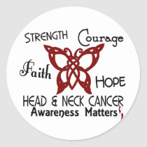 Head and Neck Cancer Celtic Butterfly 3 Classic Round Sticker
