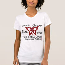 Head and Neck Cancer Celtic Butterfly 3 T-Shirt