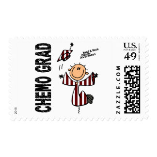 Head and Neck Cancer CHEMO GRAD 1 Postage Stamp