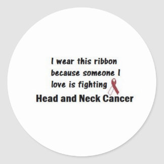 Head and Neck Cancer Classic Round Sticker