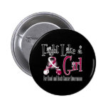 Head and Neck Cancer Cool Retro Fight Like a Girl Pinback Button