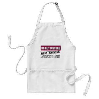 Head and Neck Cancer Do Not Disturb Kicking Butt Adult Apron