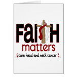 Head and Neck Cancer Faith Matters Cross 1 Greeting Cards