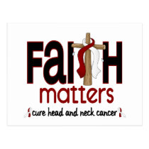 Head and Neck Cancer Faith Matters Cross 1 Postcard