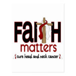 Head and Neck Cancer Faith Matters Cross 1 Postcards