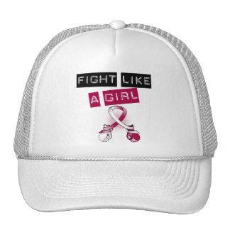 Head and Neck Cancer Fight Like A Girl Trucker Hats