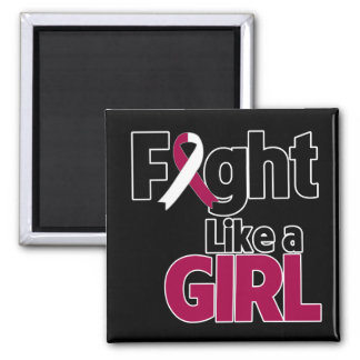 Head and Neck Cancer Fight Like a Girl Refrigerator Magnets