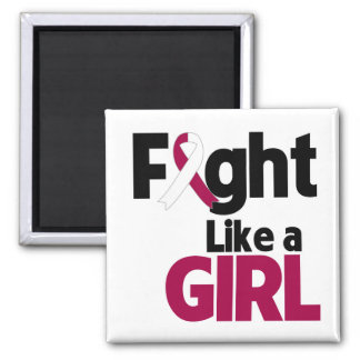 Head and Neck Cancer Fight Like a Girl Fridge Magnet