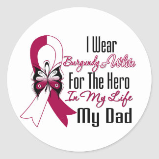 Head and Neck Cancer Hero My Dad Classic Round Sticker