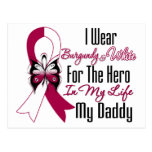 Head and Neck Cancer Hero My Daddy Postcard