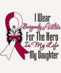 Head and Neck Cancer Hero My Daughter T-shirts