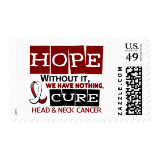 Head and Neck Cancer HOPE 2 Postage Stamps
