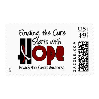 Head and Neck Cancer HOPE 4 Postage Stamps