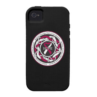 Head and Neck Cancer Hope Intertwined Ribbon Vibe iPhone 4 Case