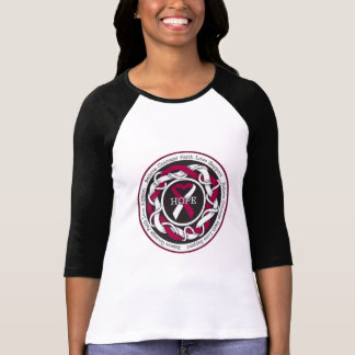 Head and Neck Cancer Hope Intertwined Ribbon Tees